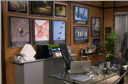 The Backwall of Barney's Office