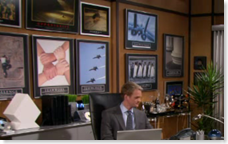 Barney Office Posters shot from s1e17