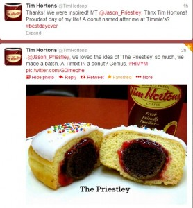 The Priestley at Tim Hortons